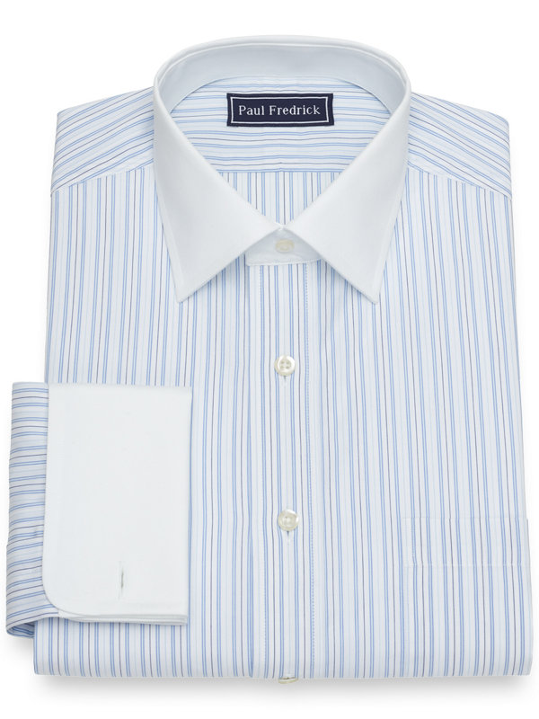 Slim Fit Cotton Stripe Dress Shirt