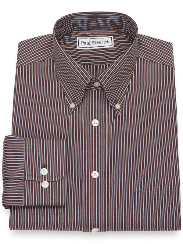 Non-Iron Cotton Shadow Stripe Dress Shirt