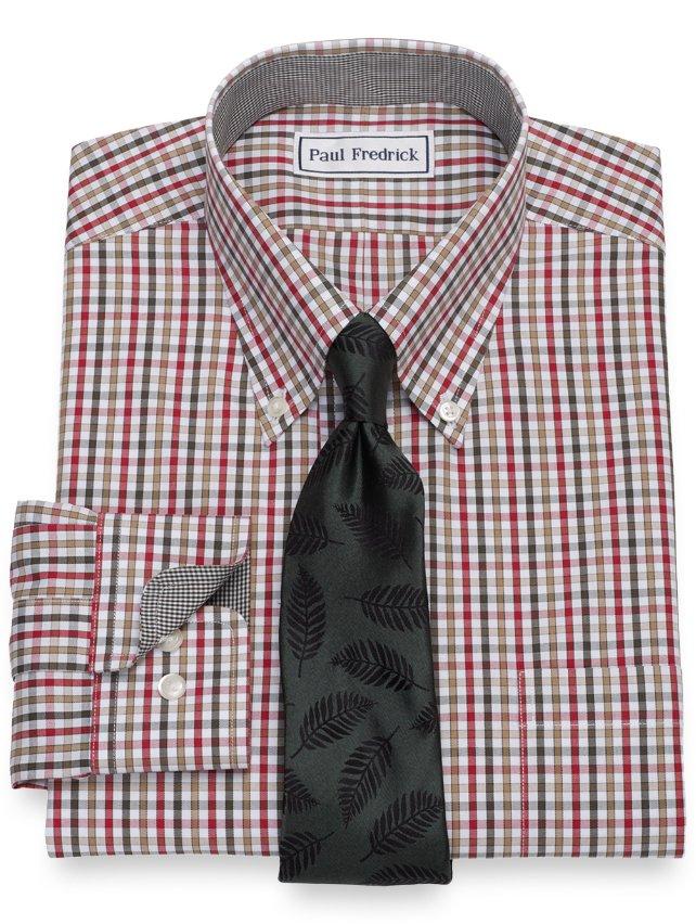 Slim Fit Non-Iron Check Dress Shirt