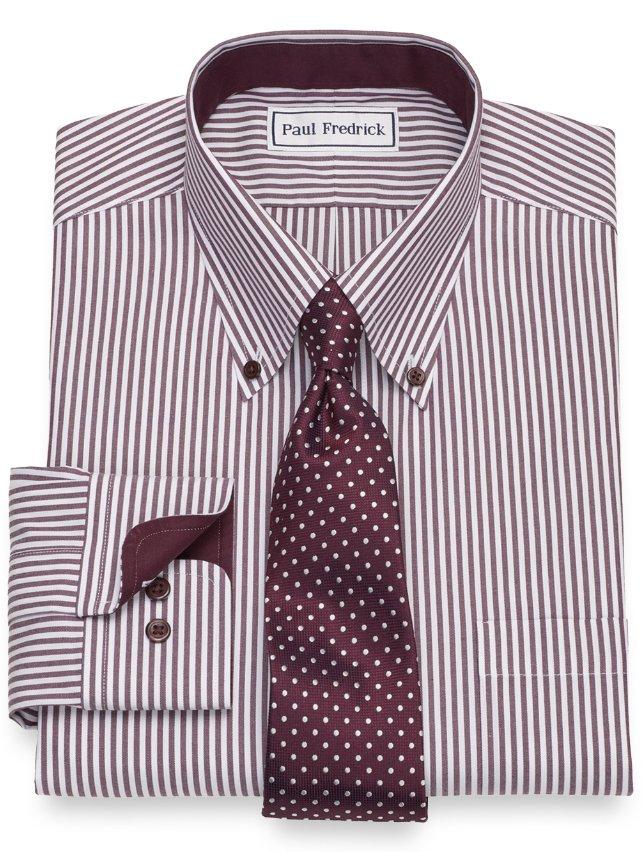 Non-Iron Cotton Bengal Stripe Dress Shirt