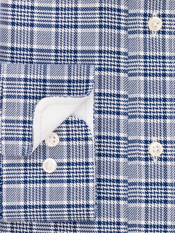 Slim Fit Impeccable Non-Iron Cotton Plaid Dress Shirt with Contrast Trim