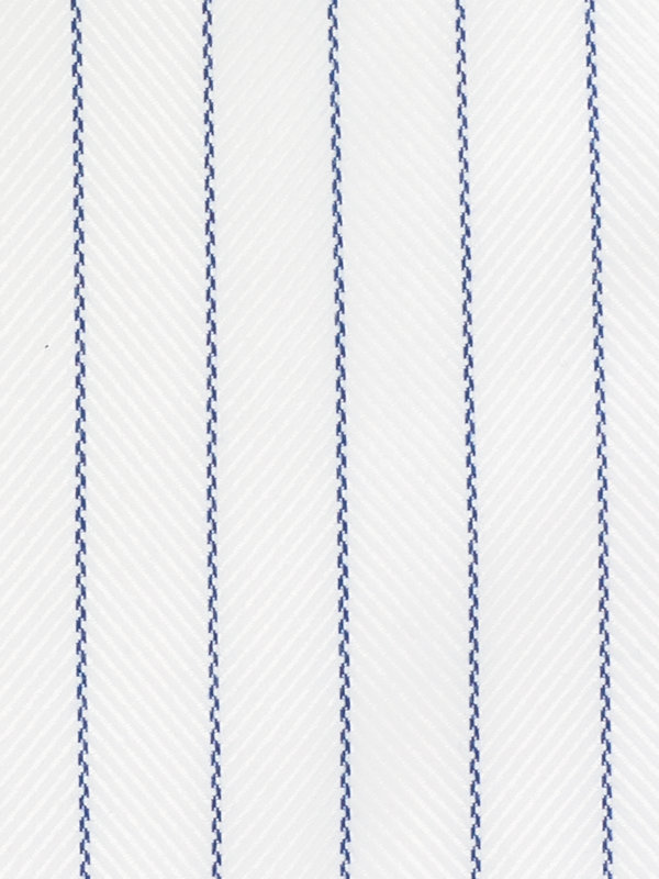 Slim Fit Impeccable Non-Iron Cotton Stripe Dress Shirt with Contrast Trim