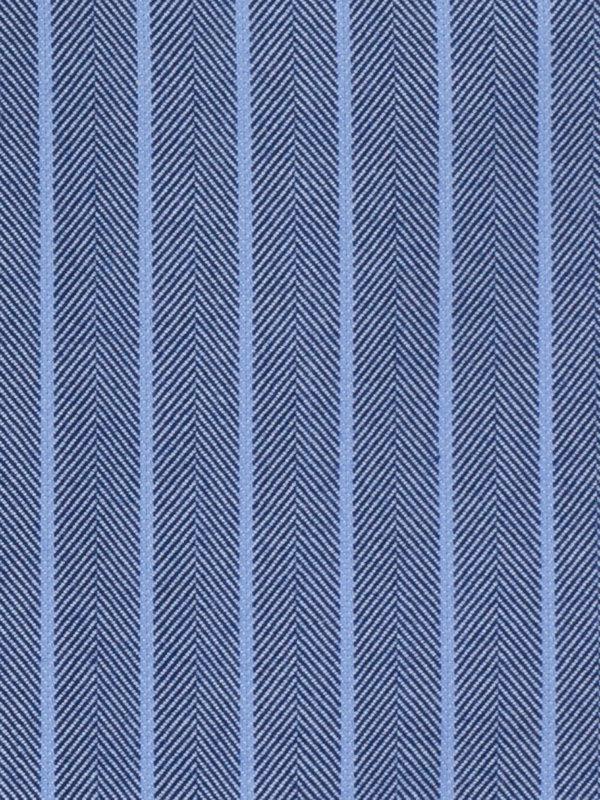 Slim Fit Impeccable Non-Iron Cotton Herringbone Dress Shirt with Contrast Trim
