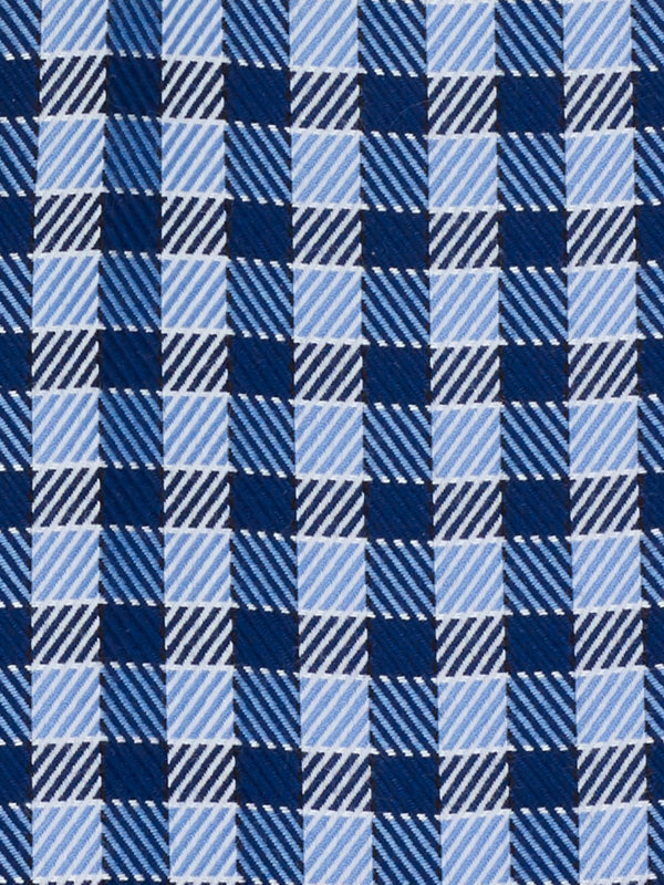Impeccable Non-Iron Cotton Gingham Dress Shirt with Contrast Trim