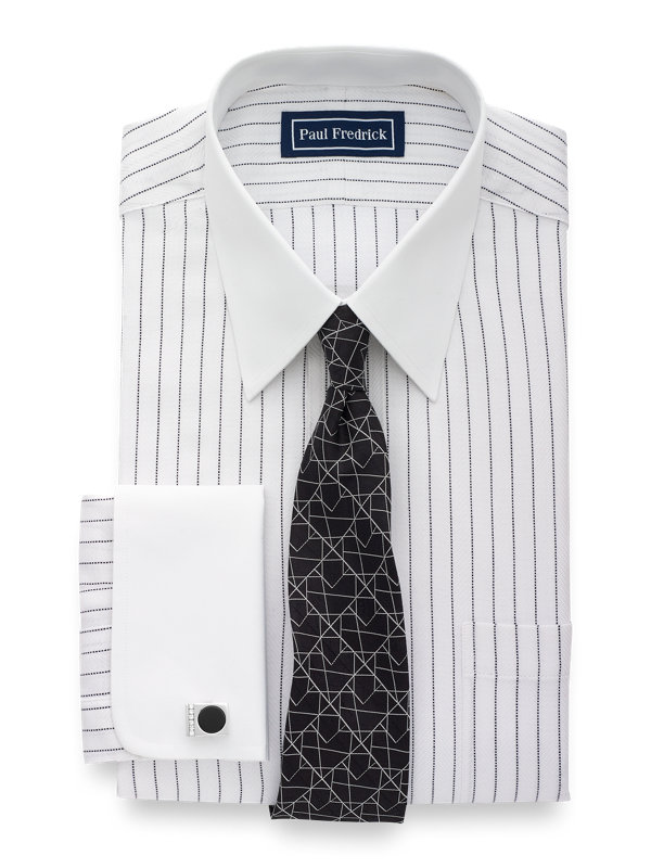 Pure Cotton Stripe French Cuff Dress Shirt