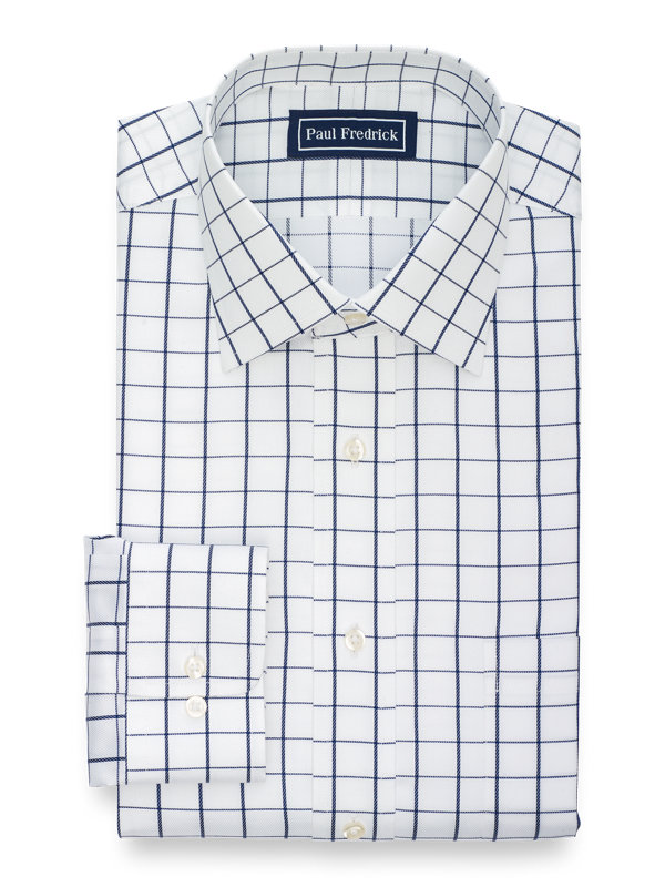 Slim Fit Superfine Egyptian Cotton Check Dress Shirt