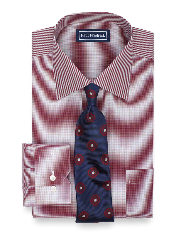 Superfine Egyptian Cotton Houndstooth Dress Shirt