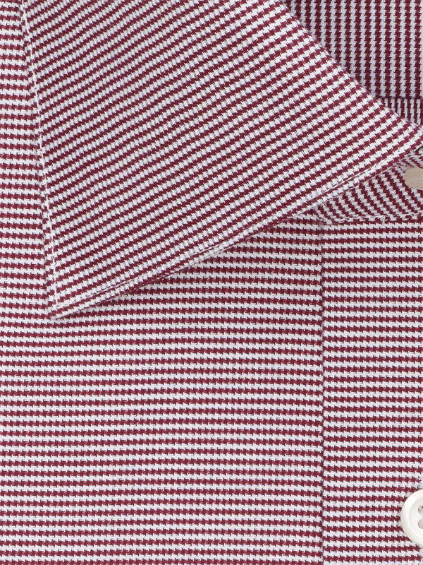 Slim Fit Superfine Egyptian Cotton Houndstooth Dress Shirt
