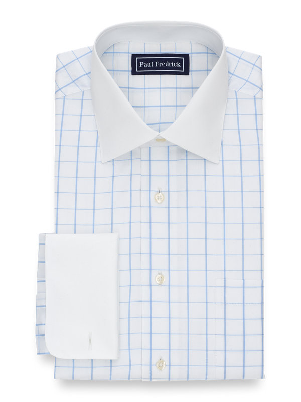 Slim Fit Superfine Egyptian Cotton Check Dress Shirt