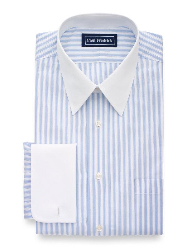 Slim Fit Superfine Egyptian Cotton Stripe Dress Shirt