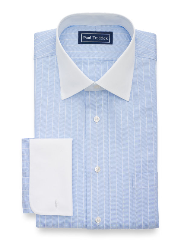 Superfine Egyptian Cotton Herringbone Dress Shirt