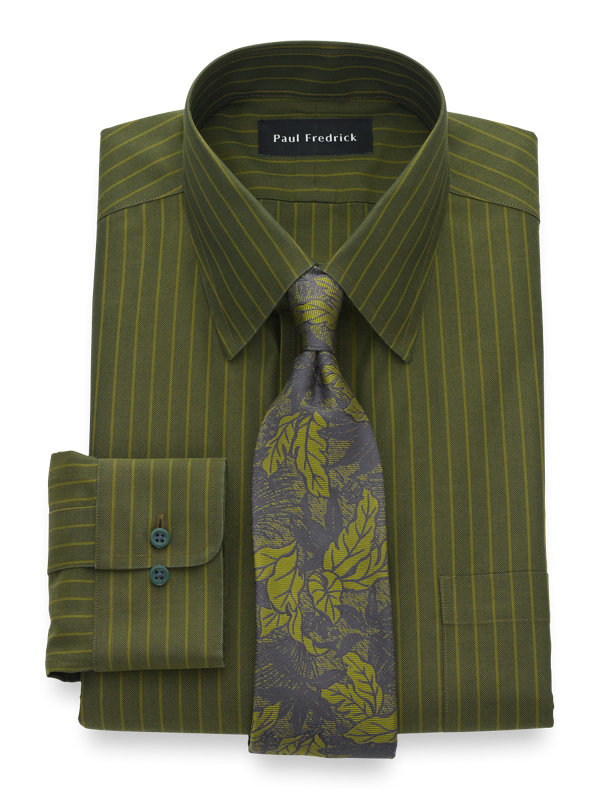 Non-Iron Cotton Herringbone Dress Shirt