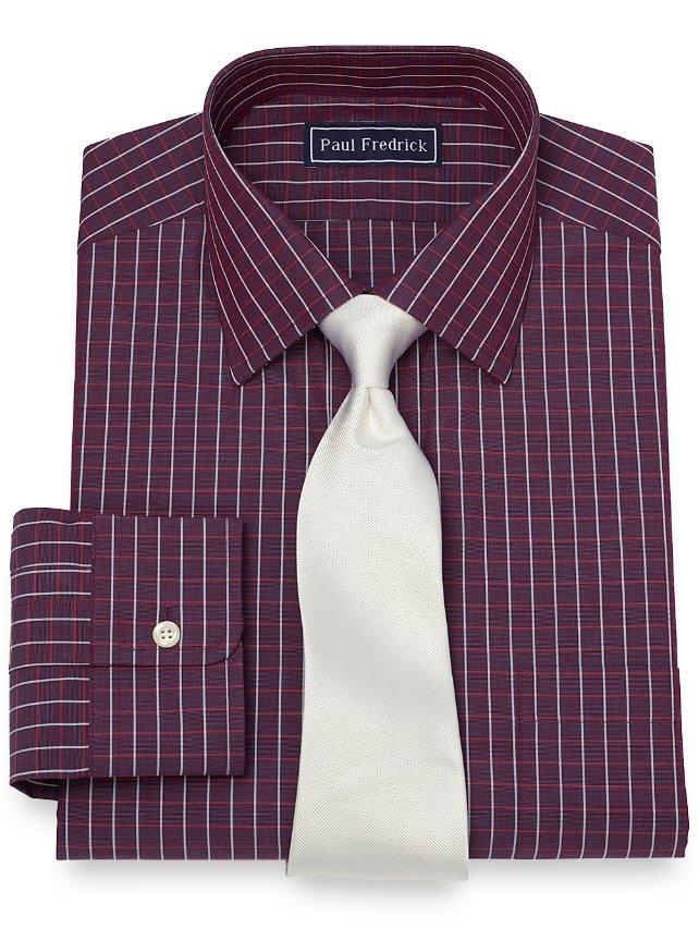 Slim Fit Grid Dress Shirt