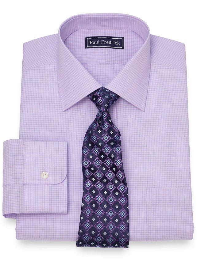 Cotton Mini Grid Dress Shirt