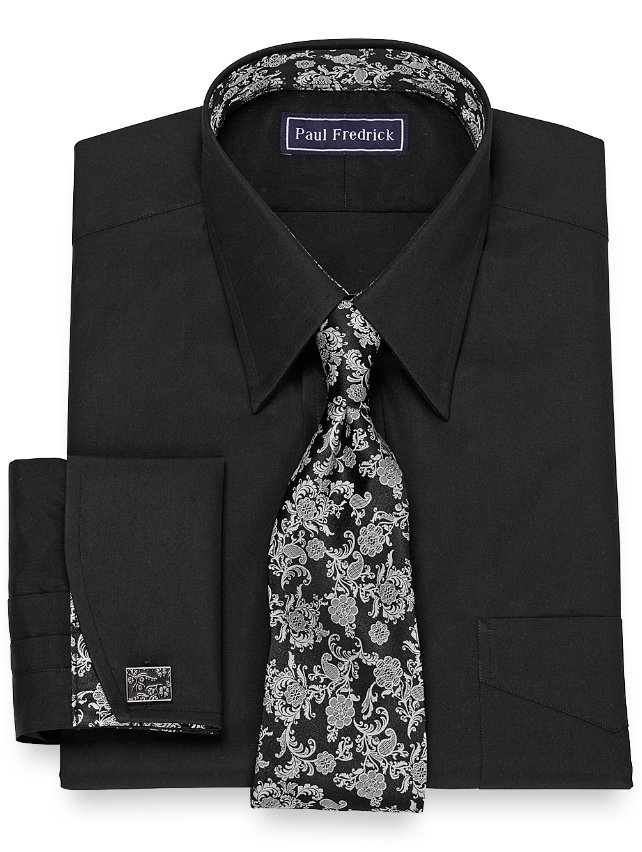 Slim Fit Solid Broadcloth Dress Shirt