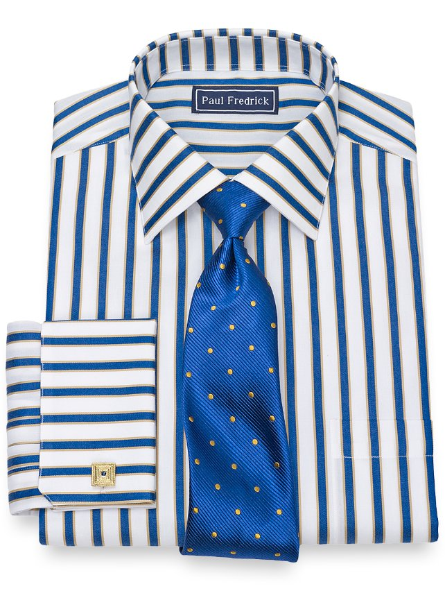 Cotton Shadow Stripe Dress Shirt