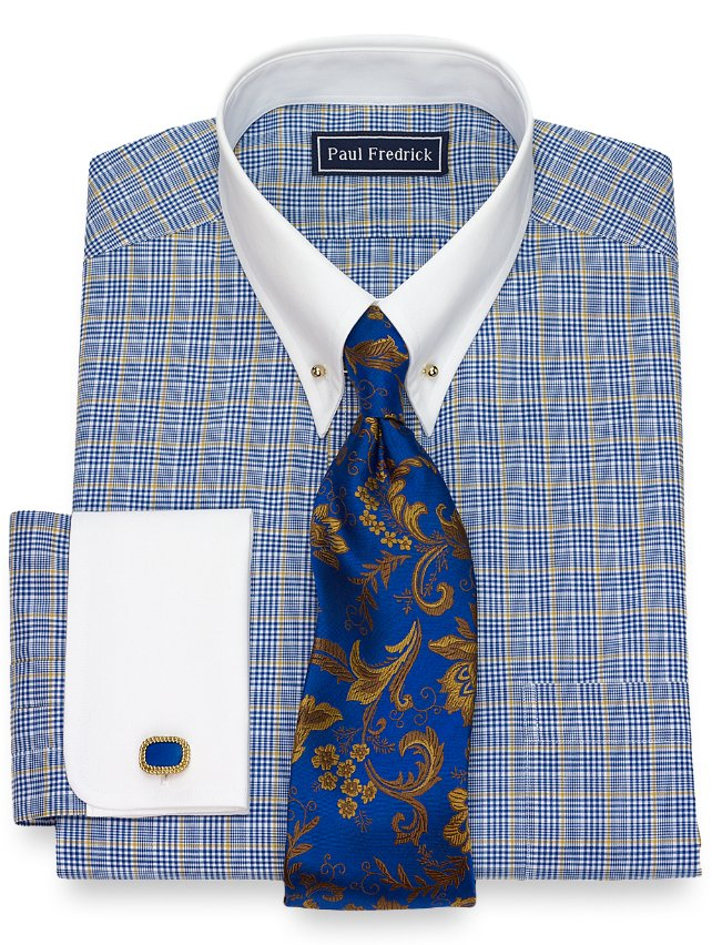 Cotton Glen Plaid Dress Shirt