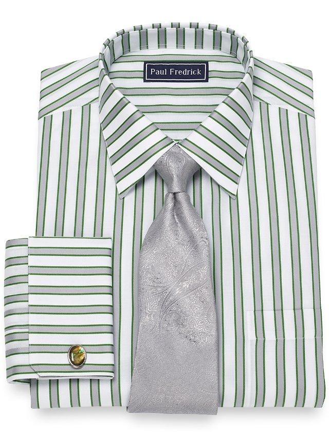 Slim Fit Shadow Stripe Dress Shirt