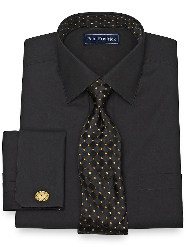 Cotton Solid Broadcloth Dress Shirt