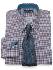 Cotton Chevron Dress Shirt
