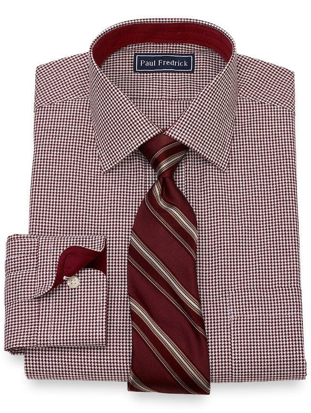 Slim Fit Houndstooth Dress Shirt