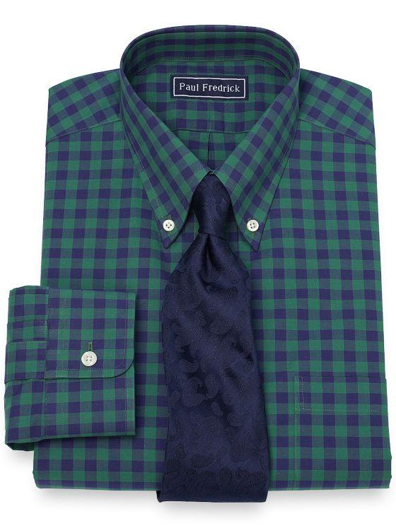 Cotton Gingham Dress Shirt