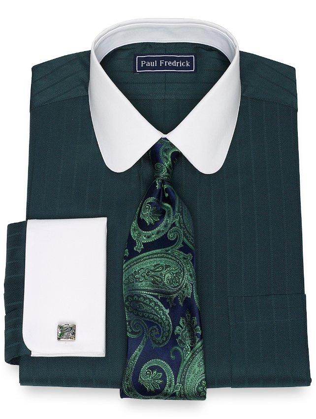 Cotton Herringbone Dress Shirt