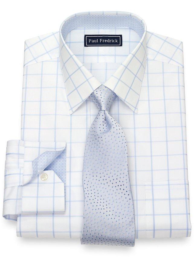 Cotton Windowpane Dress Shirt