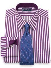 Slim Fit Satin Stripe Dress Shirt