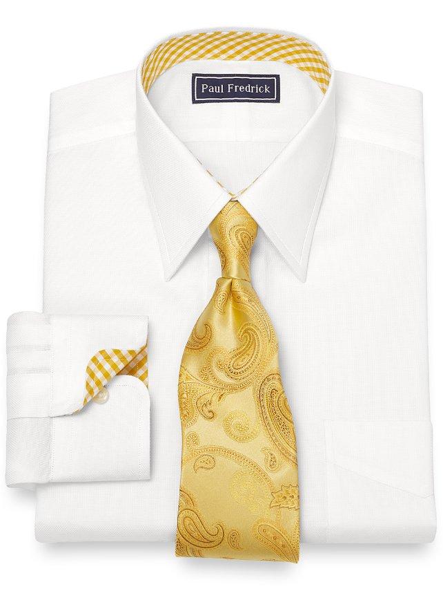Cotton Textured Pattern Dress Shirt