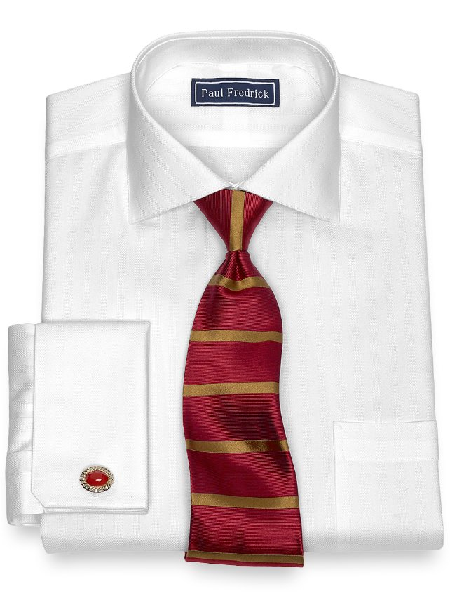 Cotton Twill Stripe Dress Shirt