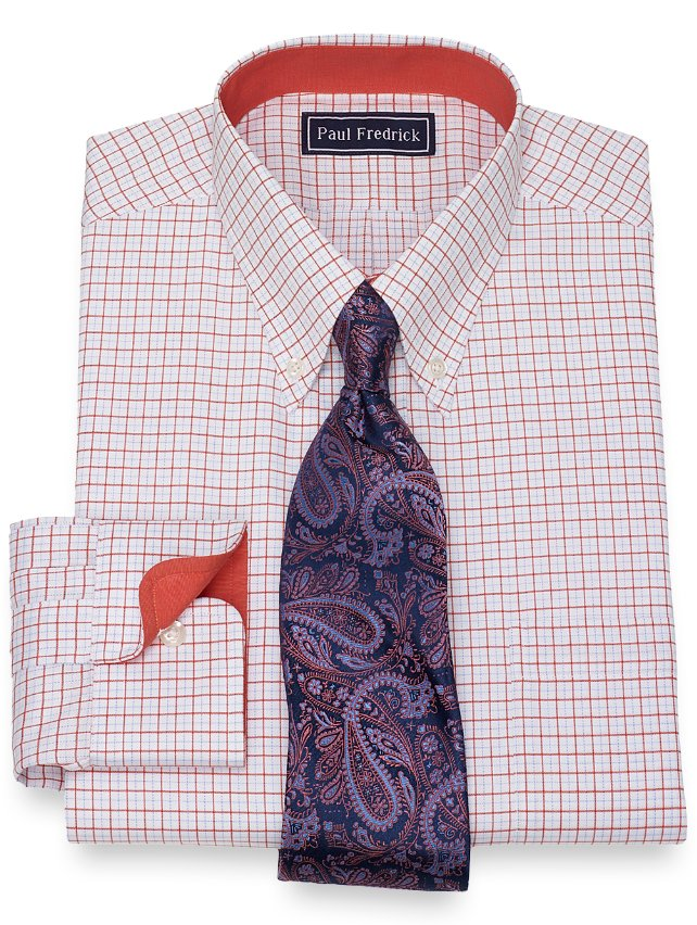 Slim Fit Tattersall Dress Shirt