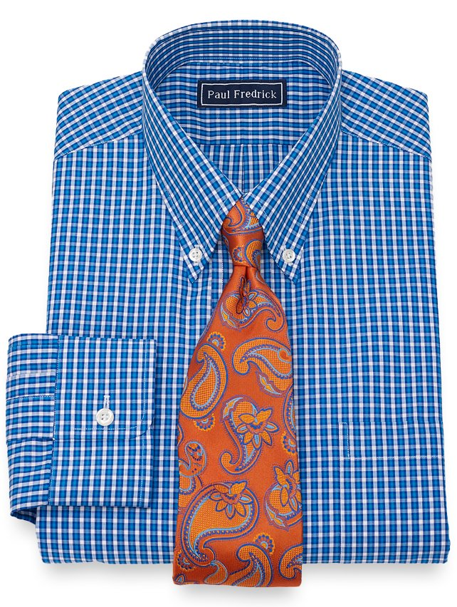 Slim Fit Gingham Dress Shirt