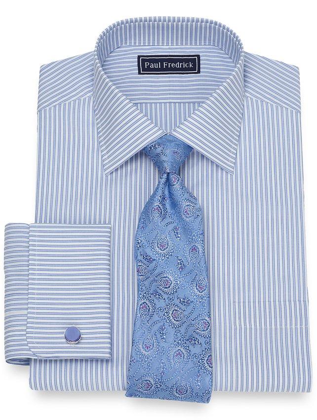 Cotton Twin Stripe Dress Shirt