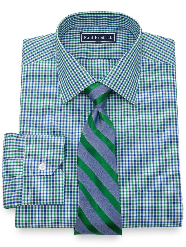 Cotton Gingham Dress Shirt