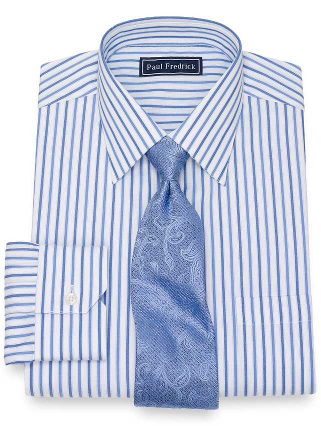 Slim Fit Alternating Stripe Dress Shirt
