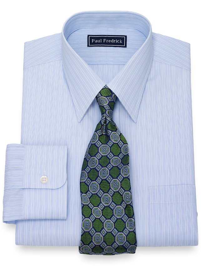 Slim Fit Twin Stripe Dress Shirt