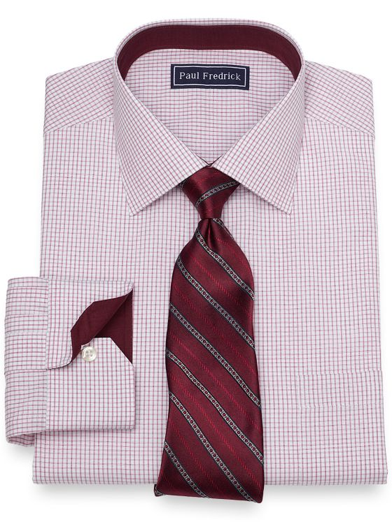 Slim Fit Check Dress Shirt