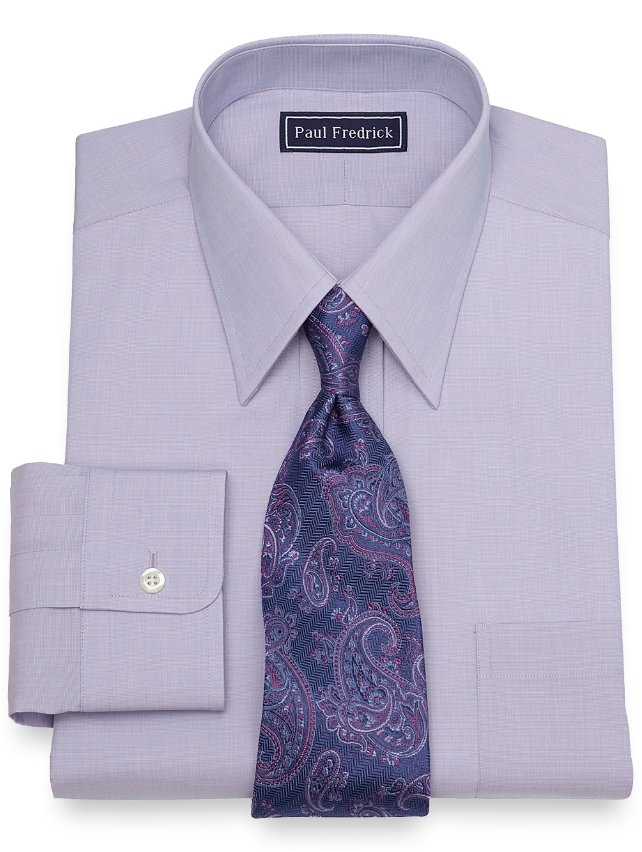 Slim Fit Solid Dress Shirt