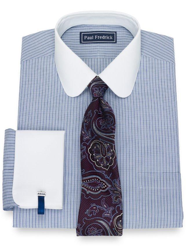 Cotton Fine Line Stripe Dress Shirt