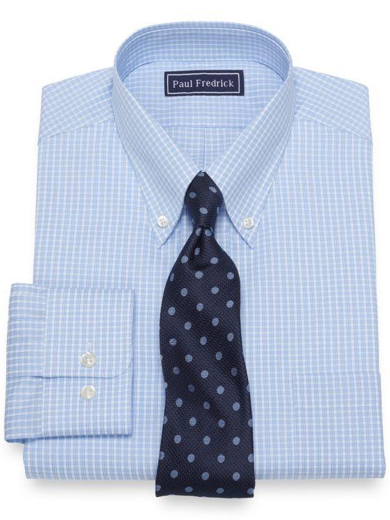 Pure Cotton Broadcloth Check Dress Shirt