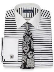 Slim Fit Pure Cotton Broadcloth Stripe Dress Shirt