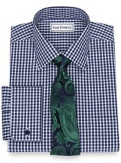 Non-Iron Cotton Pinpoint Gingham Dress Shirt