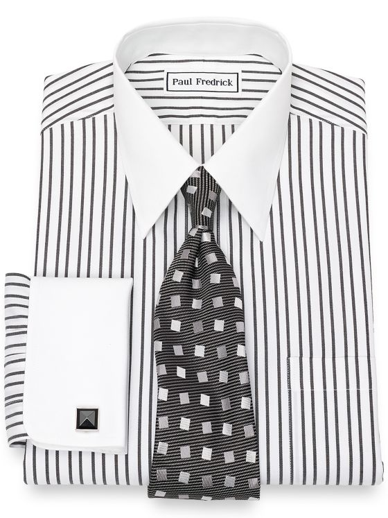 Non-Iron Cotton Pinpoint Stripe Dress Shirt