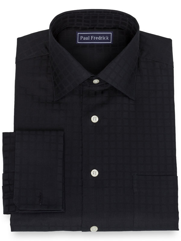 Slim Fit Pure Cotton Broadcloth Windowpane