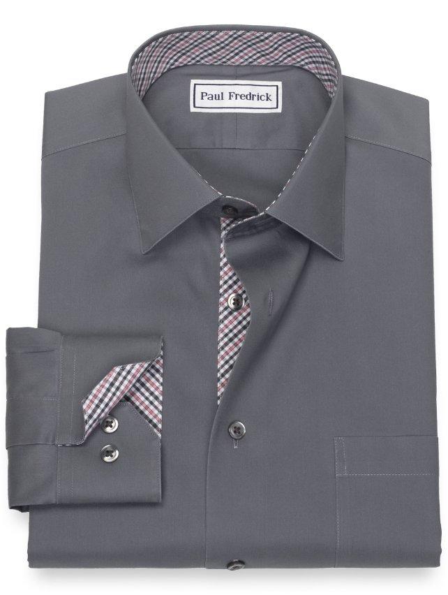 Slim Fit Non-Iron Cotton Solid Dress Shirt