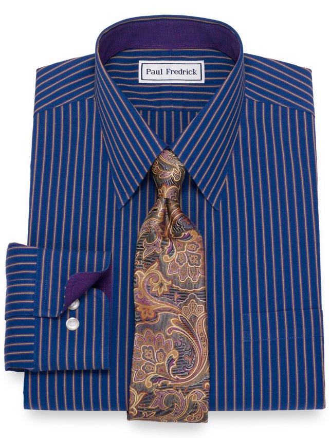Non-Iron Cotton Stripe Dress Shirt