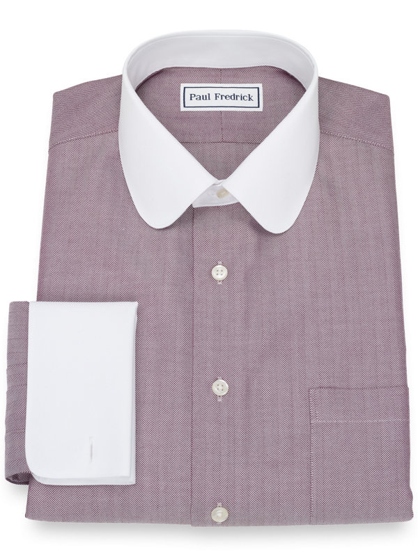 Non-Iron Cotton Herringbone Dress Shirt