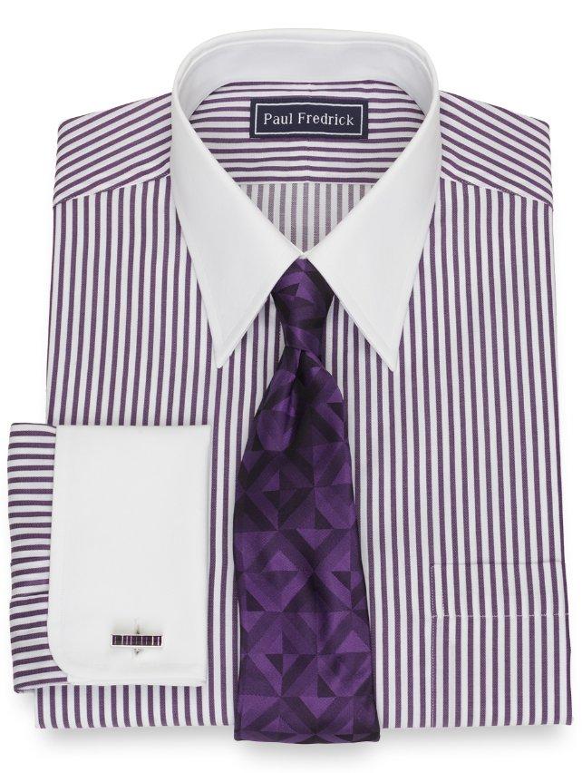 Slim Fit Cotton Bengal Stripe Dress Shirt