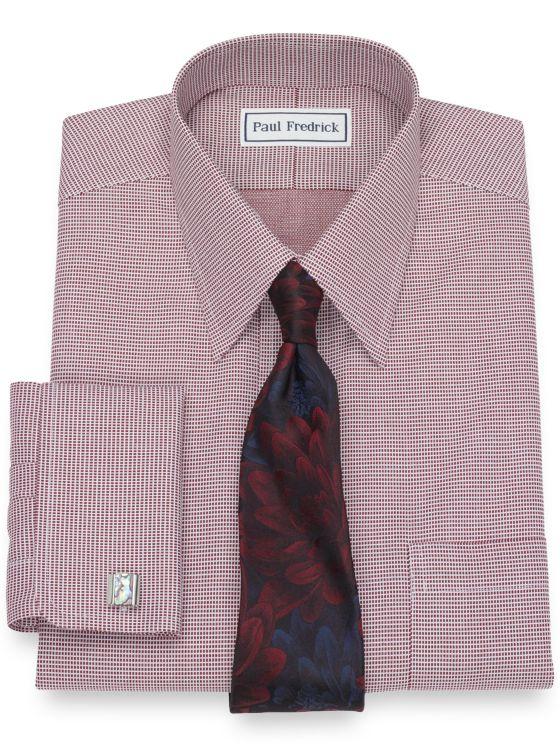 Slim Fit Non-Iron Cotton Textured Pattern Dress Shirt